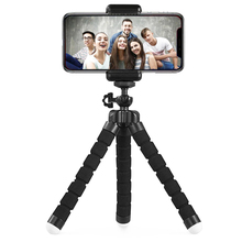 Phone Tripod, Portable And Adjustable Camera Stand Holder With Wireless Remote And Universal Clip For Iphone, Android Phone, Cam