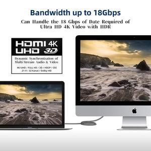 Image 5 - HDMI 케이블 HDMI 2.0a 2.0b, AMPCOM 엔지니어링 시리즈 4K HDMI 2.0 케이블 지원 3D 이더넷 HDR 4:4:4 HDTV PS4 PS3