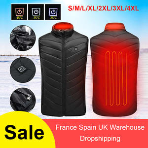 Jacket Heated-Vest Thermal-Cloth-Feather Electric Warm Hiking Hunting Winter Camping