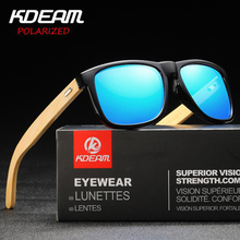 Classical Bamboo Legs Polarized Sunglasses for Men 2019 KDEAM Luxury Brand Fashion Travel Driving Mirror Male Eyewear