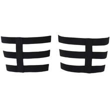 Sexy Bondage Lingerie Stockings Garter-Belt Leg-Harness Edgy Goth Woman Black