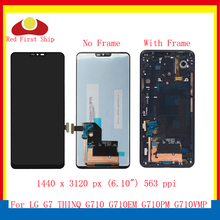 ORIGINAL 6.1'' For LG G7 THINQ LCD Display Touch Screen Digitizer Assembly With Frame For LG Q7 G710PM G710 G710EM LCD Complete original lcd for lg k8 k350n k350e k350ds lcd display complete touch screen digitizer assembly black white free shipping tools
