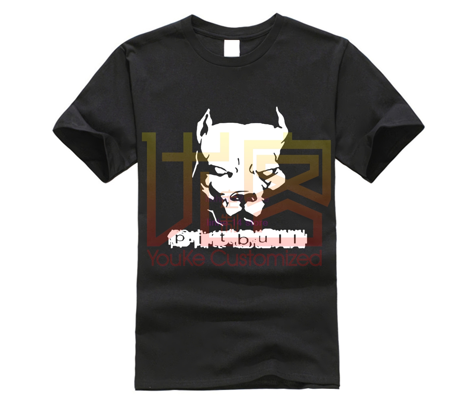 Fashion Summer t-<font><b>shirt</b></font> Men Tops Pitbull American <font><b>Pit</b></font> <font><b>Bull</b></font> Dog Tshirt men's Comfortable Cotton T <font><b>Shirt</b></font> Tees image