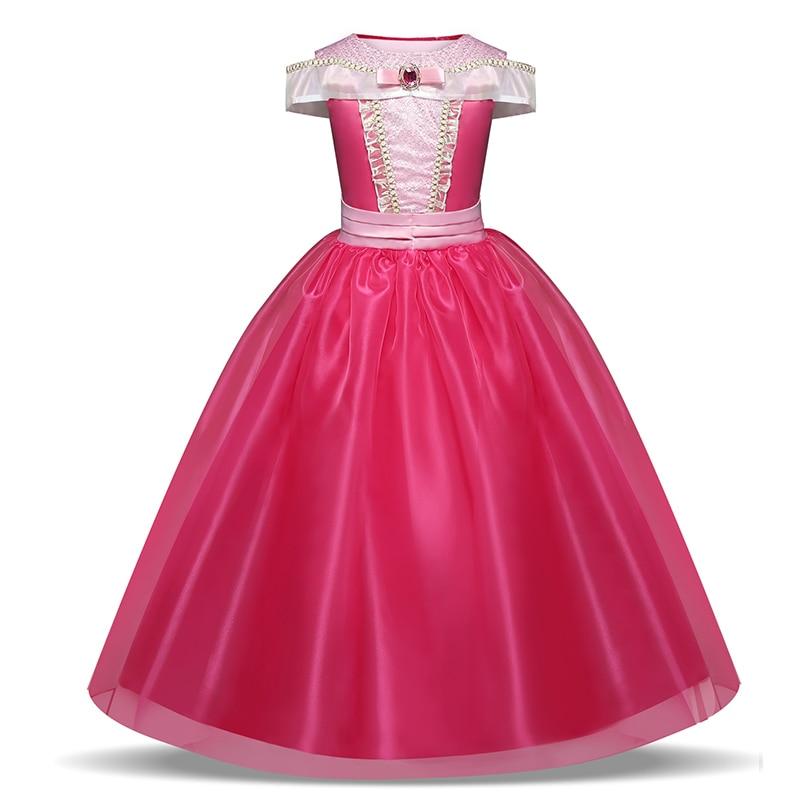 Girls Princess Dress Halloween Party Cosplay Costume Kids Children Robe 5