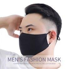 1/4 pièces adulte hommes femmes respirant lavable extérieur poussière masque facial noir mince poussière coton masques masque