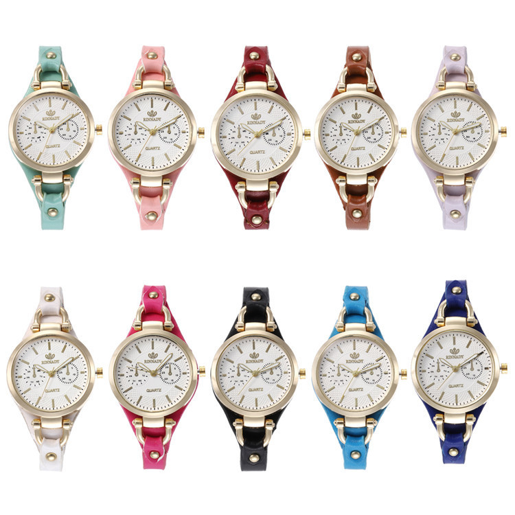 Fashion Belt Series Bracelet Watch Exquisite Multicolor Circular Eye Watches Joker Lady Wrist Watch