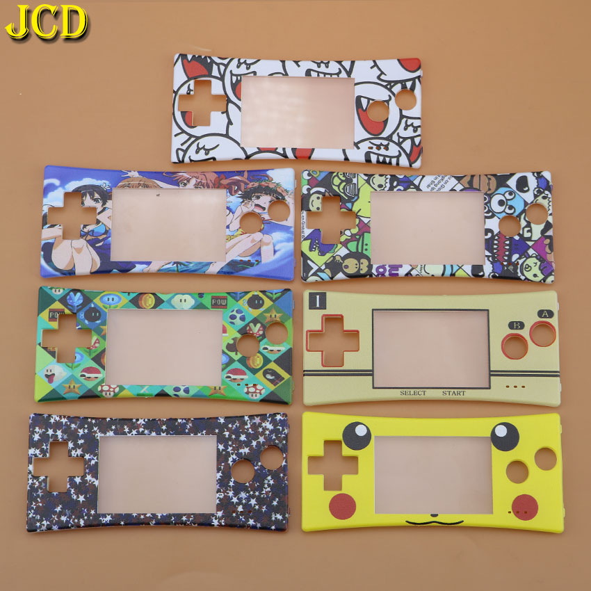 JCD 1PCS Front Faceplate Cover Shell <font><b>Case</b></font> Replacement for GameBoy Micro for <font><b>GBM</b></font> Front <font><b>Case</b></font> Housing Repair Part image