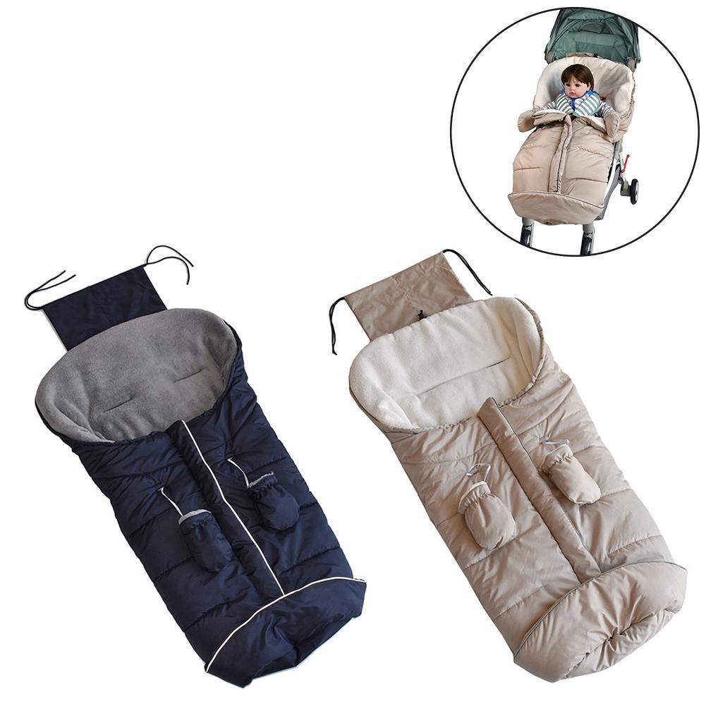Stroller Warm Sleeping Bag Footmuff Cover Sack Warm Blanket Cushion For Car Seat Stroller Cold Winter Baby Care