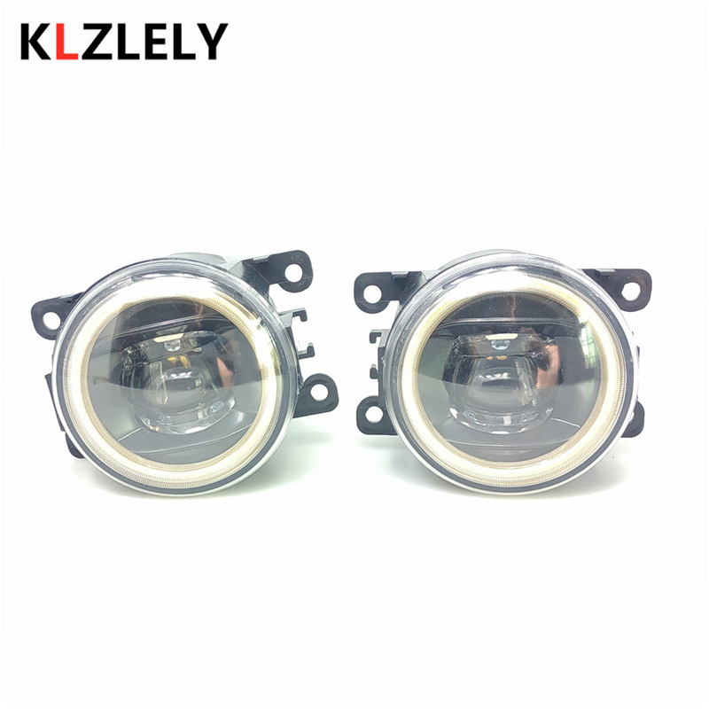 For <font><b>Peugeot</b></font> 207 307 407 <font><b>607</b></font> 3008 LED Fog Lights 20W 900LM New Angel eye Fog Lights white 2pcs image