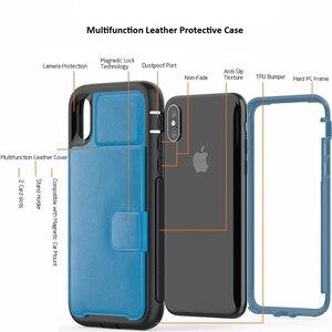 Image 4 - SE 2020 Роскошный многофункциональный чехол кошелек для IPhone 12 Mini 11 Pro Xs Max Xr X 8 7 6s Plus, кожаный силиконовый Жесткий Чехол для задней панели