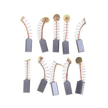 10 sztuk 5 Pairs Mini wiertarka części zamienne do szlifierki elektrycznej części zamienne do szczotek węglowych na silniki elektryczne Dremel narzędzie obrotowe 5x5x8mm tanie i dobre opinie HUXUAN Carbon Brushes