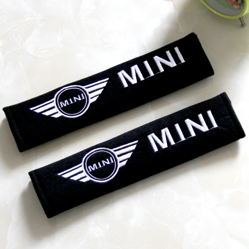 Suitable For BMW Mini Car Interior Trim Set Fashion And Personality Creative Safety Belt Shoulder Pad Protective Case