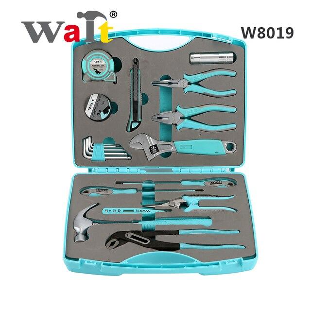 Attendre W8019 bleu main trousse à outils électricien réparation outil ensemble Auto réparation outil ensemble ménage voiture réparation outil ensemble
