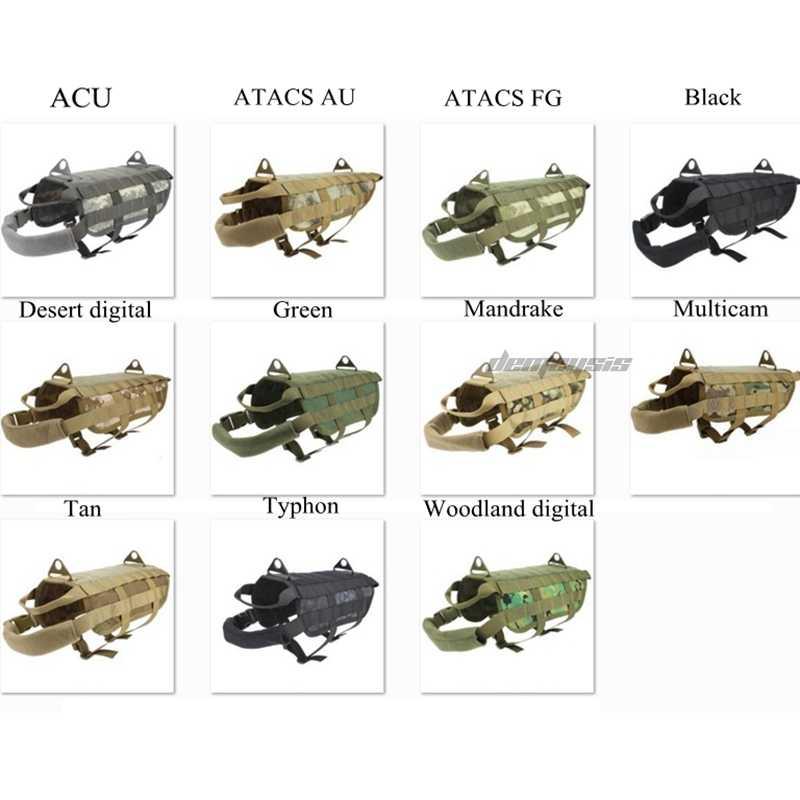 Colete de cão tático ao ar livre militar caça roupas do cão carga rolamento treinamento colete arnês 5 tamanhos XS-XL para cães pequenos cães grandes