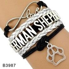 Love Doggie Dog Trainer Person Lover Police Mom Maltese Doberman Dachshund Rottweiler German Shepherd Bracelets for Women