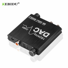 192kHz DAC Coaxial SPDIF Toslink to Analog Stereo L/R RCA 3.5mm Jack Audio Adapter Digital to Analog Converter with Volume Contr(China)