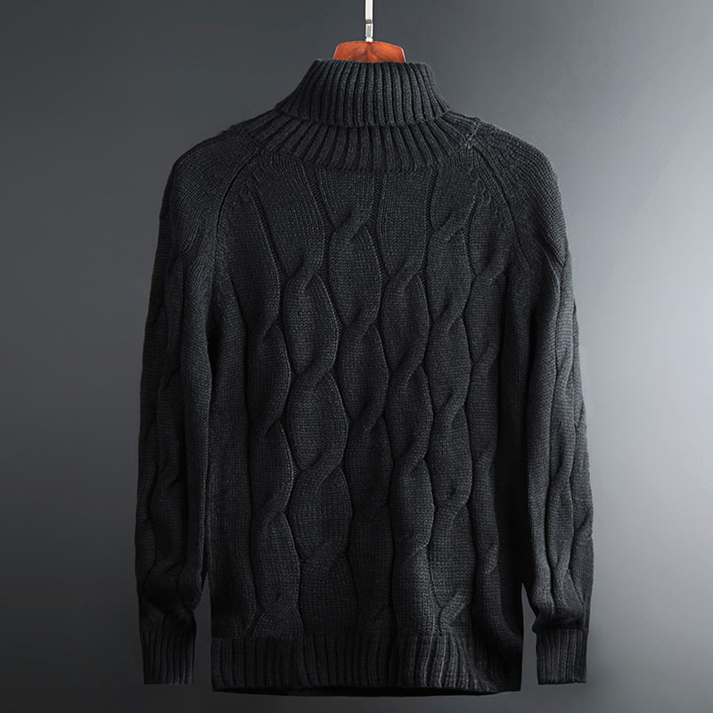 2019 New Fashion Brand Sweater For Mens Pullovers Turtleneck Warm Slim Fit Jumpers Knit Autumn Korean Style Casual Men Clothes