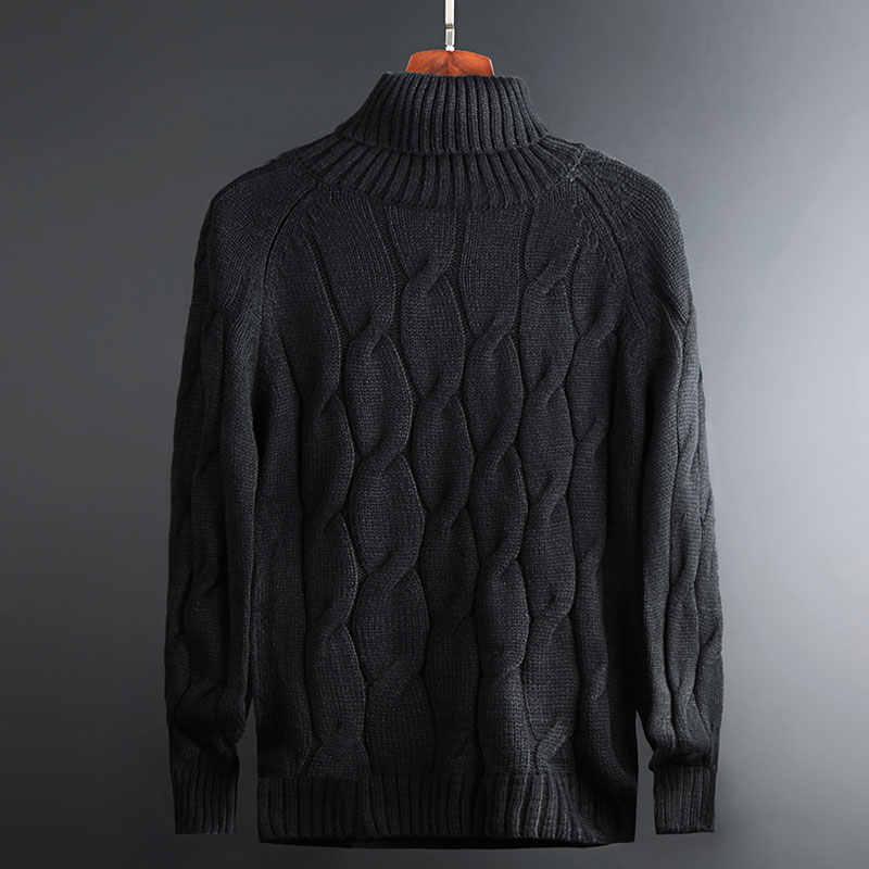 2020 Nieuwe Mode Merk Trui Voor Heren Truien Coltrui Warm Slim Fit Jumpers Knit Herfst Koreaanse Stijl Casual Mannen Kleding