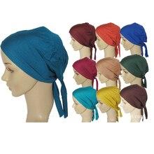 2020 yumuşak iç başörtüsü kapaklar müslüman streç türban kap islam Underscarf Bonnet şapka kadın kafa bandı turbante mujer