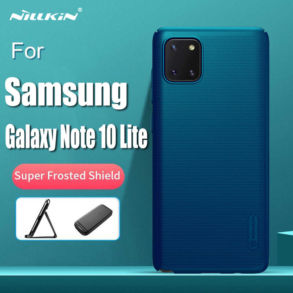 For Samsung Galaxy Note 10 Lite Case Nillkin High Quality Super Frosted Shield Hard PC back cover For Samsung Note 10 Lite case
