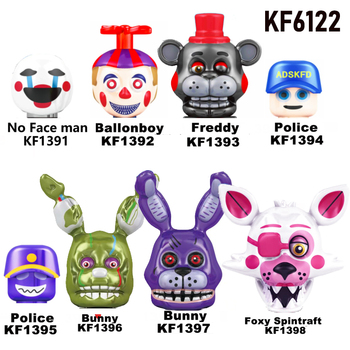 In Stock New Five Nights Fredded Nightmare Building Blocks Fredies Chica Bonnie Funtime Foxy ABS Action Figures Toys KF6122 1