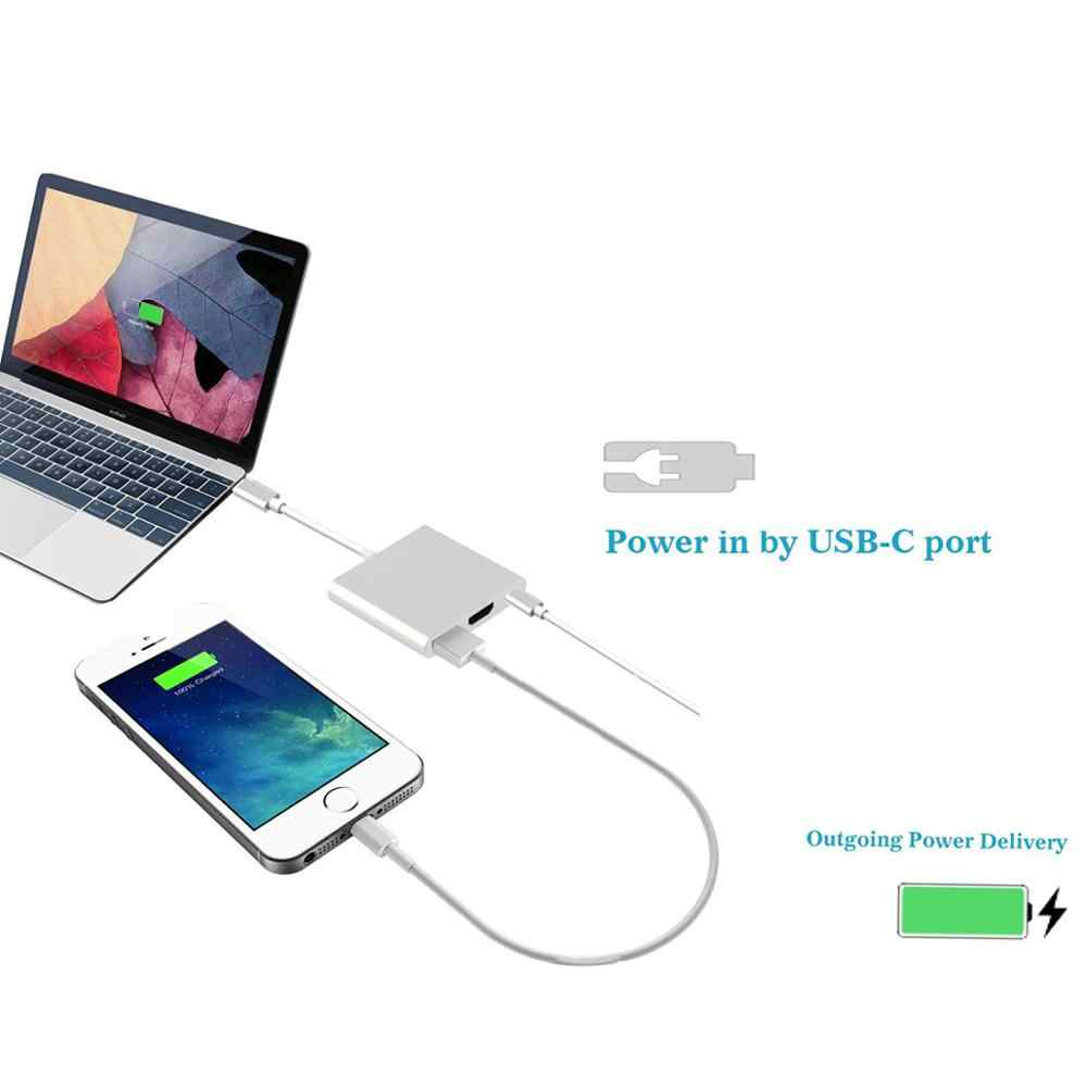 جديد USB-C إلى HDMI 3 in1 محول الكابل ل سامسونج هواوي بوك Usb 3.1 الصاعقة 3 نوع C التبديل إلى HDMI 4K كابل محول