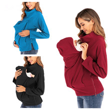Sweatshirts Carrier-Tops Pregnancy Maternity-Clothing Winter Autumn Velvet Baby Casual