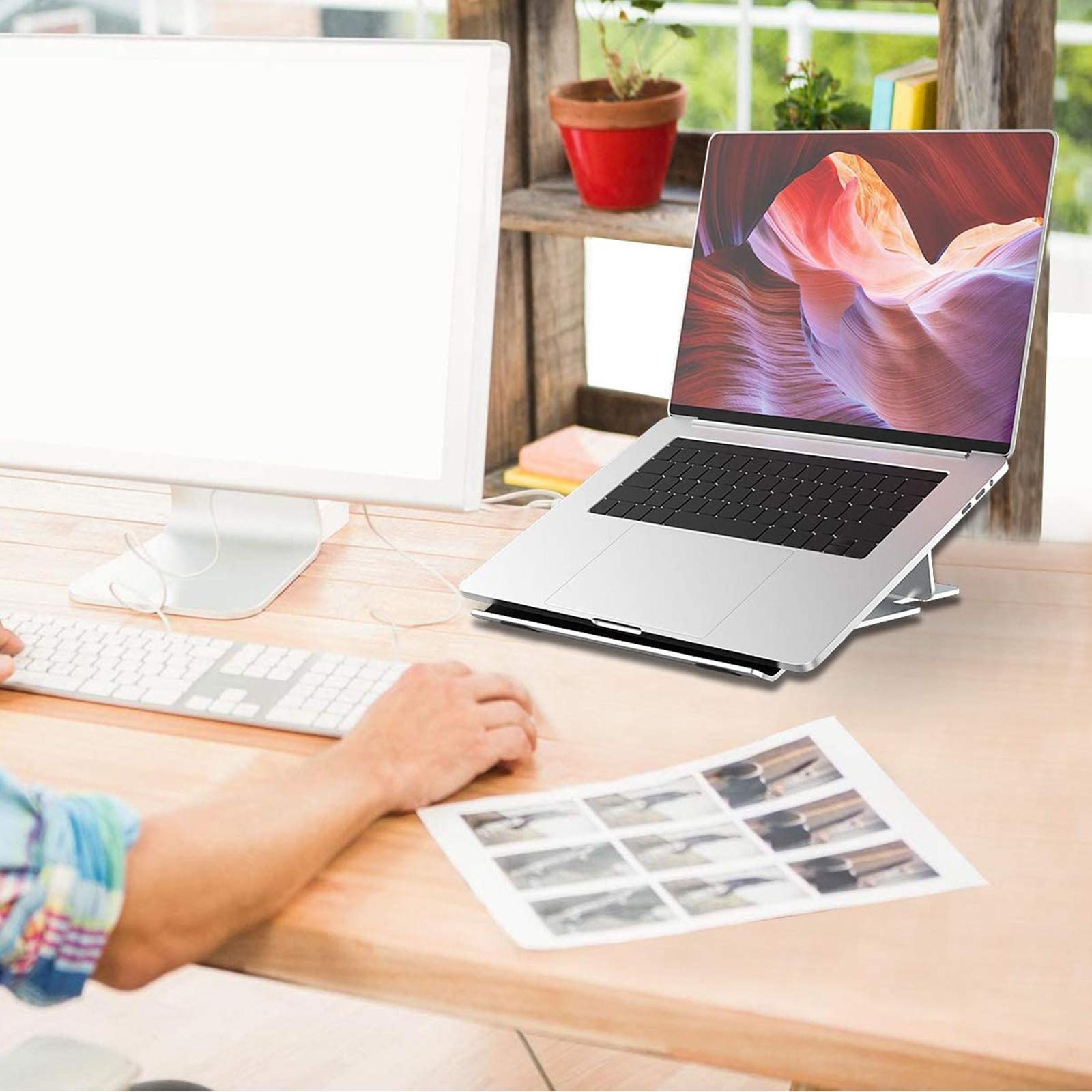Регулируемая легкая алюминиевая подставка для ноутбука Эргономичная
