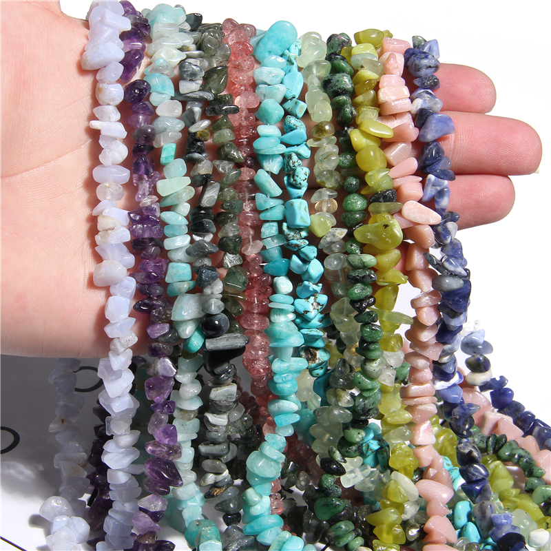 "15.5"" Natural Brazil Citrines Crystal Stone Rock Freeform Chips gravel beads Alabaster lapis lazuli Natural Stone jewelry making(China)"