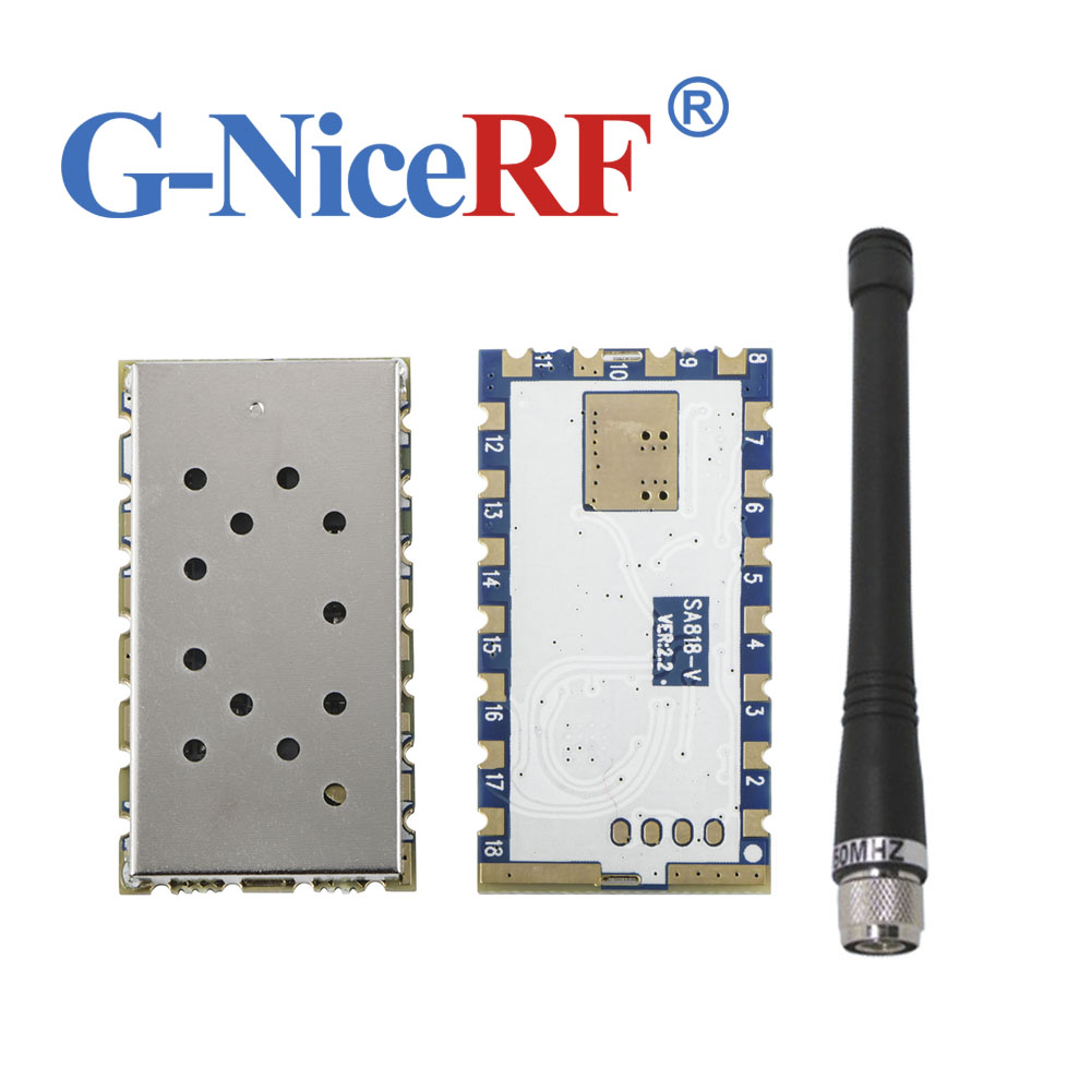2pcs/lot High-integrated Embedded Walkie Talkie Module SA818 VHF Band 134-174MHz