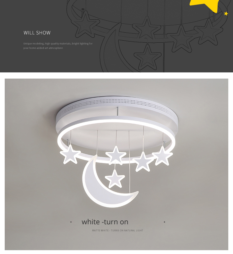 H2c9a41c39db5497d80225f9efdb46547B Wall Mounted Lights | Surface Mount LED Lights | New Ceiling Lights Girl Children Room Bedroom Modern LED Lighting Surface Mount Remote Control Indoor Lamp Lampara Techo 001