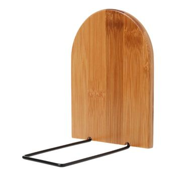 Natura bambusowy Organizer na biurko biuro strona główna Bookends Book Ends uchwyt na stojak półka Bookrack N1HD tanie i dobre opinie N1HD5AC1101328-L Bamboo