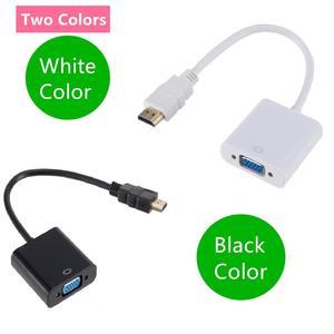 Image 3 - HDMI إلى كابل تجهيز مرئي محول HDMI ذكر إلى VGA Famale محول محول الرقمية التناظرية HD 1080P للكمبيوتر المحمول اللوحي HDMI ver VGA