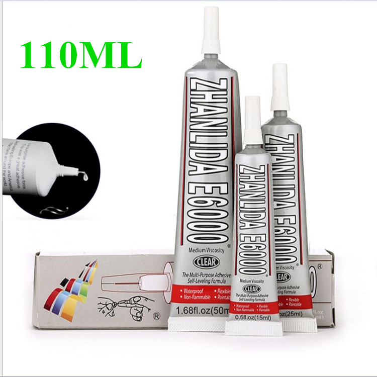 110ml Industrial Liquid E6000 Super Glue Strong Adhesive For Diy Diamond Painting Cloth Metal Fabric Rhinestones Crystal Glass