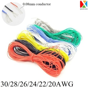 1M Wire Cable Super Soft Silicone Insulated 30 28 26 24 22 20 18 AWG High Temperature Flexible Electronic Lighting Copper Wire