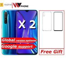 Realme X2 X 2 Мобильный телефон Snapdragon 730G 64MP камера 6,4 ''полный экран NFC OPPO мобильный телефон VOOC 30W быстрое зарядное устройство