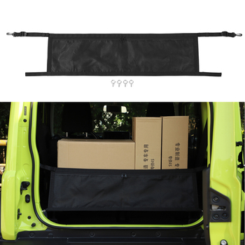 Car Accessories For Suzuki Jimny 2019+ Rear Trunk Cover Luggage Carrier Curtain With Pull Buckle ABS Black Covering Curtain