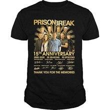 Prison break 15th anniversary 2005 2020 05 temporadas 90 episódios obrigado pelas memórias assinaturas camisa preto