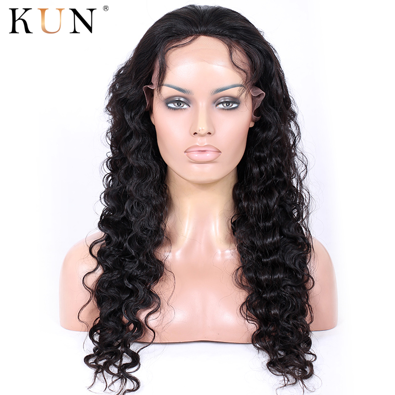 Deep Body Wave Wig 13x6 Lace Front Human Hair Wigs Brazilian Remy 13x4 Lace Front Wig Pre Plucked For Black Women KUN Hair