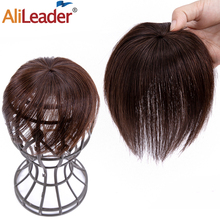 Hair-Extension-Accessories Hair-Pieces Clip-In Alileader Straightened Ventilation Natural