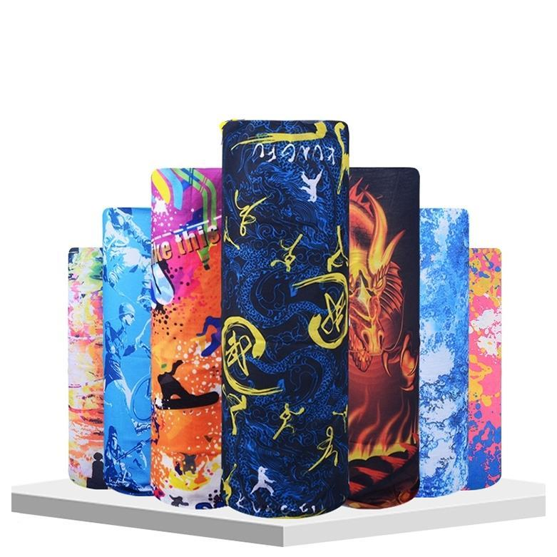 Outdoor Scarf Sun Protection Camping Riding Bandana Scarves Neck Head Scarf Bandanas Flower Elegant Print Men Scarf Shemagh