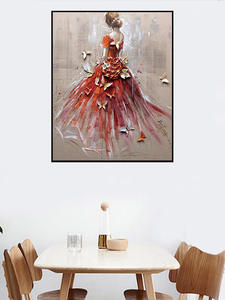 DIY Painting Frame Bride-Drawing Wall-Art Dance Modern-Picture By Numbers Home-Decor