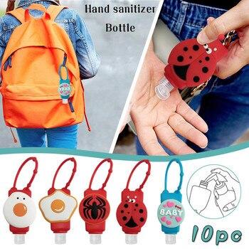 Hand Sanitizer Dispenser Portable Hang Cartoon silicone Dispensing Portable Hang Dispenser 30ML Disp