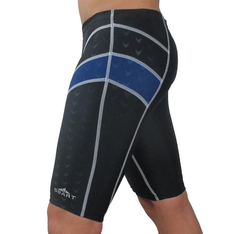 Shark Skin Sbart In Leg MEN'S Swimming Trunks Men's Bathing Suit Boxer Short Swimming Trunks