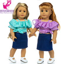 18 Inch Girl Doll Chiffon Dress Fit for 43cm New Born Baby Doll Clothes American Doll Clothes Wear free shipping hot 2014 new style popular 18 american girl doll clothes dress b116