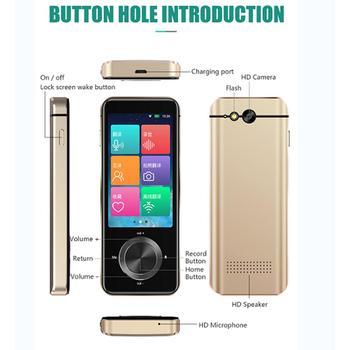 M9 Smart Language Translator Device Portable WiFi Two-way Voice Interpreter 107 Languages WIFI/hotspot/Bluetooth 1GB + ROM 8GB