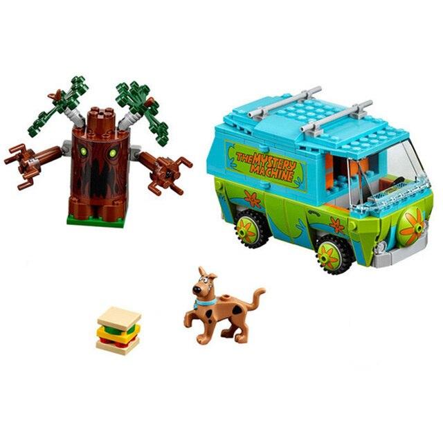 Bela Scooby Doo máquina misteriosa autobús bloque de construcción DIY bloques juguetes 10430 Compatible con legoing P029 regalos de cumpleaños