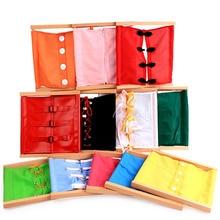 купить Kids Busy Board Buckle Toy Zip Button Lace Up Color Montessori Early Education Dress Teaching Aids Preschool Toys по цене 629.17 рублей