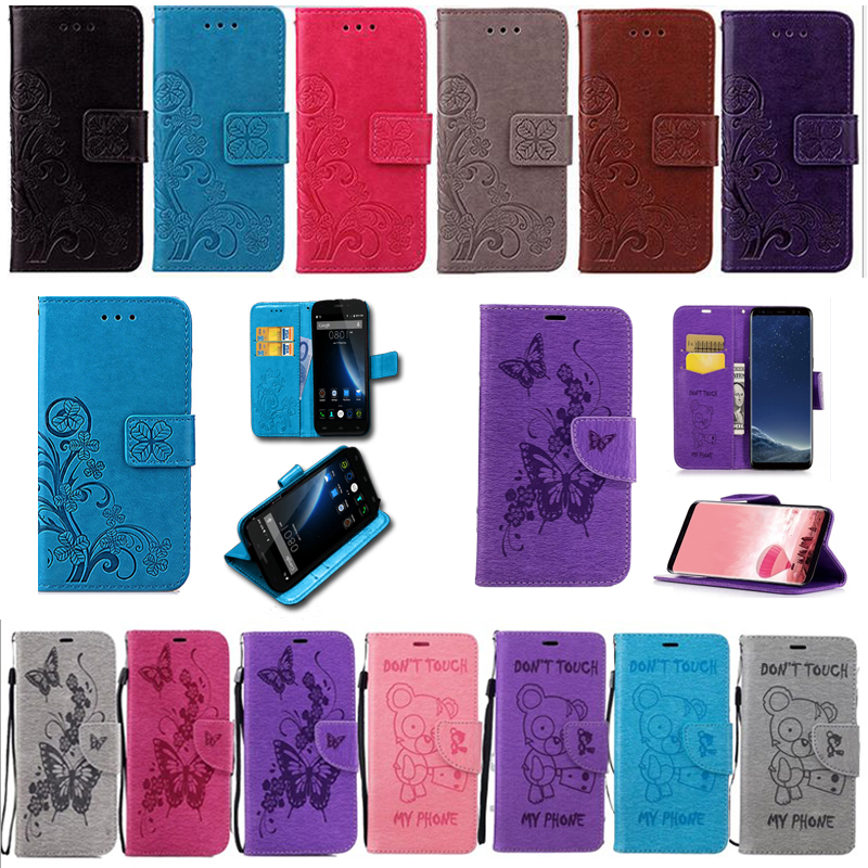 Flip Case For Fly FS517 FS509 FS459 FS458 FS408 Case Fly Cirrus 11 Nimbus 9 16 Stratus 7 8 Cover Wallet Pattern Cover With Strap image