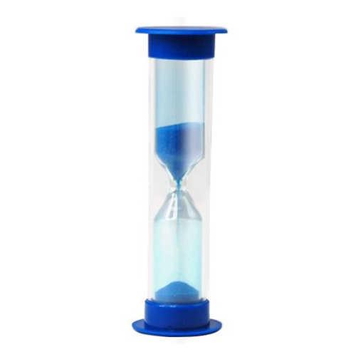 Novo-temporizador de areia para crianças escova de dentes 2 minutos temporizador de ovo, azul